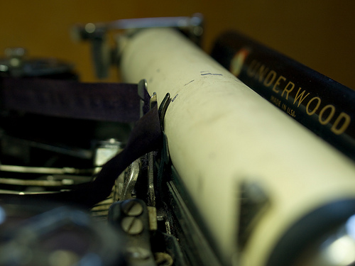 Typewriter: Photo by rahego on Flickr